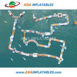Die größte erwachsene Aqua-Park-Spiel-Wasser-Trampoline-aufblasbaren Wasser-Spiele