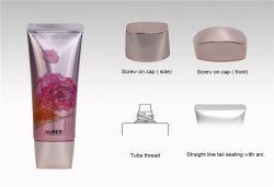 [د30مّ] أساس بيضويّة يعبر غطاء معدنيّة عال لامعة مستحضر تجميل أنابيب