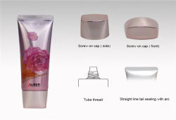 D30mm ovale Basis, die metallische Schutzkappen-hohe glatte kosmetische Gefäße verpackt