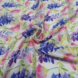 Оптовая торговля текстильной узором спереди тканого полиэфирного волокна шелк саржа ткань печатной платы
