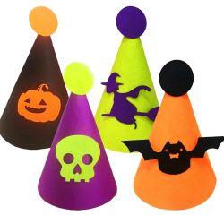 Halloween 당 공급 아이들 펠트 피복 모자 바 나이트 클럽 Halloween 훈장