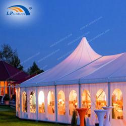 Air conditionné Salle de banquet de mariage de crête élevée Marquee tentes avec fenêtre transparente des murs de l'ABS
