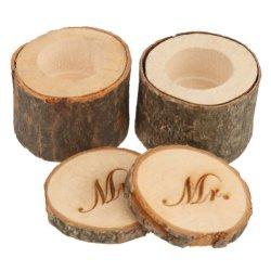 Дружественность к окружающей среде раунда деревянная подарочная упаковка для проведения свадеб кольцо двойные деревянные сокровище организации .