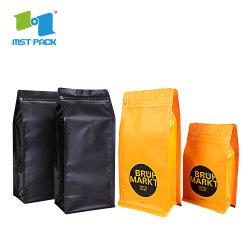 Kundenspezifisches Firmenzeichen-Drucken lamelliertes biodegradierbarer Plastik-Reißverschluss-verpackenbeutel-Kaffee-Aluminium mit Einwegventil