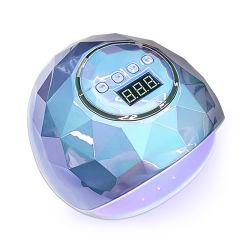 새로운 다이아몬드 브라이트 컬러 프로페셔널 충전식 86W LED 네일 폴리시 UV 조명이 있는 젤 램프