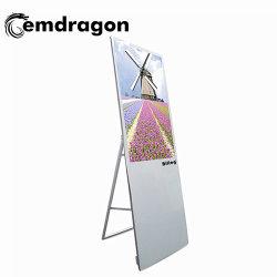 3D AFFICHAGE Ad 43 pouces LCD Portable Digital Signage Kiosque en bois de la publicité de l'équipement éducatif PC LCD écran tactile