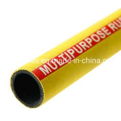 Gelb eingewickeltes Vielzweckgummischlauch-Luft-Wasser 20bar