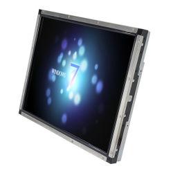 """"""" il video industriale dello schermo di tocco 19 ha veduto il tocco con il video impermeabile esterno dell'affissione a cristalli liquidi immesso DVI del VGA"""