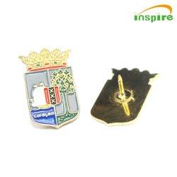 Пользовательский логотип цветов моды рекламных мягкий жесткий эмаль латунные Gold Silver флаг Brooch безопасности сувениров медаль Металлический бейдж железа булавка для рекламных подарков