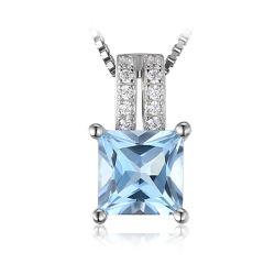 Мода 925 серебристые украшения и аксессуары и подарки драгоценных камней топаз пульт управления для женщин
