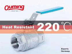 CF8m 1000 Wog 2000 Wog 1, 2, 4 дюйма из нержавеющей стали с плавающей запятой 2PC шаровой клапан
