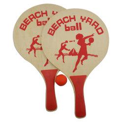 подарок для продвижения древесины на пляже теннисную ракетку деревянные ракетку для летних основания