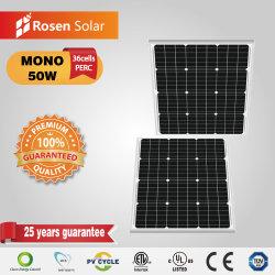 50W mono pequeno painel solar