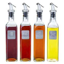 Frasco de Óleo de vidro Garrafa de vinagre de sabor para cozinha cozinha