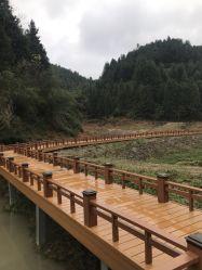 Giardino di plastica di legno del Gazebo del composto WPC della coestrusione di ASA-PVC che recinta alberino