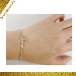 熱い販売の宝石類のアクセサリの金張りの衣裳の銀のブレスレット