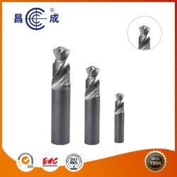 Solid Carbide étape Foret de torsion avec trou de refroidissement intérieur Outil de découpe de profil