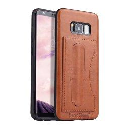 Полиуретановая сумка из натуральной кожи/ задняя крышка для Samsung Galaxy S7/S7/S8/S8 плюс/S9/S9 Plus с держателя карты и функции