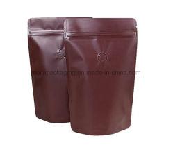 Levar in piedi in su i sacchetti di plastica dell'imballaggio di memoria della noce del caffè della caramella alimento/del sacchetto con le tacche rottura/della chiusura lampo