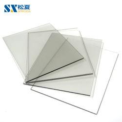 5mm Cristal sólido policarbonato de fijación clara de la hoja de cubierta