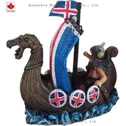 O OEM Polyresin Home Dons Islândia Pirata navio Viking Decoração de mesa