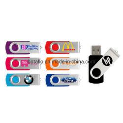 Hotsel Low Cost R402 USB colorido Giratório Clássico Unidade Flash USB com o logotipo