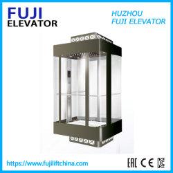 Liften van de Lift van het Huis van de Lift van de Passagier van het Sightseeing van de Fabriek van FUJI China de Panoramische met Deur van het Glas van de Prijs van de Luxe de Goedkope