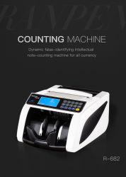 R688 bon prix avec une grande qualité de papier monnaie de la machine de comptage de trésorerie du détecteur de faux billets contrefaits Le projet de loi de l'argent pour la vente de compteur