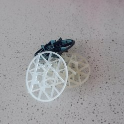Anneau de flocon de neige en plastique