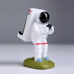 樹脂製カートゥーン宇宙飛行士形デスクトッププラスチック携帯電話ホルダ