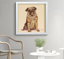 3D lentikular, kundenspezifisches Qualitäts-Wand-Kunst-handgemachtes Segeltuch-TierÖlgemälde zum Foto
