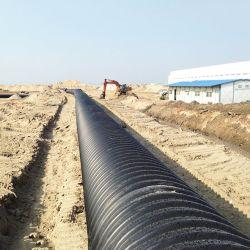 De steelband plooide Spiraalvormige Zwarte Plastic Waterpijp