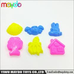 6pzas Moldes de animales de la herramienta de moldeo en arena arcilla DIY Juguete modelo