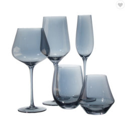 Grande Volume Somky artesanais Gray Crystal Stemware gigante do cálice de vinho tinto, conjunto de vidro