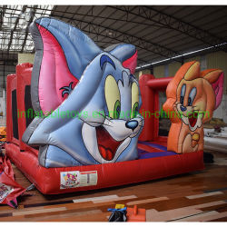 Tom-und Jerry-federnd Schloss-Prahler-lustige Karikatur-Rollen-federnd Schloss-Kind-Partei-federnd Schloss