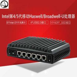 Fox J7-5500U 6 cartes réseau Intel Gigabit 4 ports USB Soft Industrie de la sécurité du réseau de contrôle de routage de l'ordinateur d'hôtes