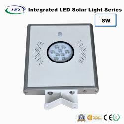 lumière solaire Integrated de jardin du détecteur DEL de 8W PIR