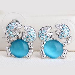 Crabe - Commerce de gros charmant Opal Earrings Cute Animal Earrings Bijoux
