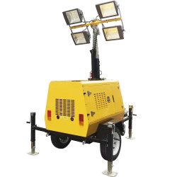 Petite inondation mobiles Vehicle-Mounted Générateur Diesel de la tour lumineuse