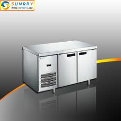 Équipement de cuisine commercial au réfrigérateur congélateur coffre à double porte Table de travail