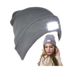 L'hiver Beanie Hat LED PAC tricotés avec 2 pile bouton fait sur mesure