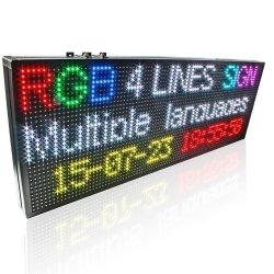 Carro de tráfego externo de alta qualidade assinar o texto do programa da placa de LED