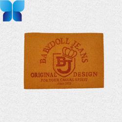 Impresa personalizada etiquetas piel coser por maleta, bolsa, las prendas de vestir