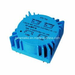 Dcv-7va isolant encapsulé toroïdale/sécurité/transformateur étanche pour appareil médical