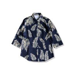 100% Algodón Hawai Flor patrón completo de la playa DE MANGA CORTA Camiseta de parte de los hombres al por mayor de desgaste
