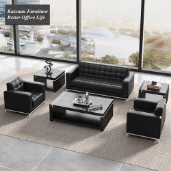 Modernes einfaches Freizeit-Leder-Sofa in Büro-Möbeln 3+1+1