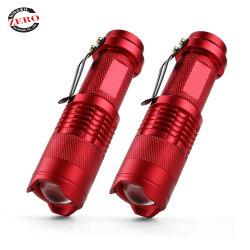 300lm Mini Lampe torche à LED torche lampe de feu Zoom réglable