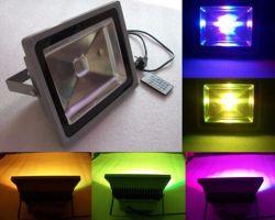 방수 LED 플러드 점화 고성능 LED가 LED 갱도에 의하여 LED 플러드 빛 LED 투광 조명등 20W/30W/50W IP65 RGB 정원 빛 점화한다