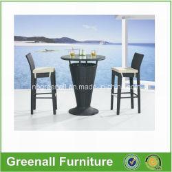 Commerce de gros Outdoor utilisée PE Rotin Bar Table et chaise de jardin Meubles de Jeux