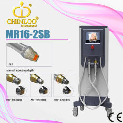Srf+Mrf+PDT Microneedleの皮の若返りの無線周波(MR16-2sb)のための顔の処置の美装置